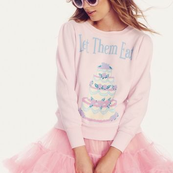 Let Them Eat Cake Couch Princess Sweater