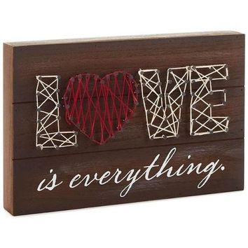 Love Is Everything String Art Wood Sign, 11.75x8