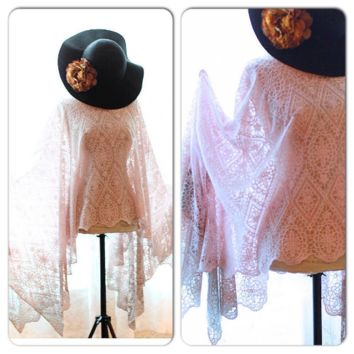Ombre crochet poncho, Bohemian spring Poncho, True Rebel Clothing