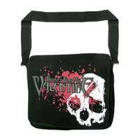 Bullet For My Valentine Skulls Splatter Messenger Bag Black