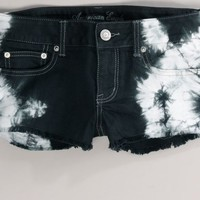 AEO 's Tie-dyed Denim Shortie (Black)