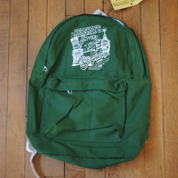 Vintage Deadstock 1991 Hershey's Green Canvas Backpack
