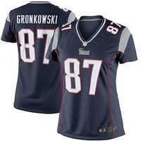 Women's New England Patriots Rob Gronkowski Nike Navy Blue Game Jersey