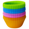 Evelots Set Of 24 Silicone Baking Cups, Reusable Cupcake & Muffin Mold Supplies
