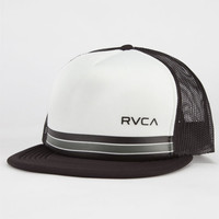 Rvca Barlow Ii Mens Trucker Hat Black/White One Size For Men 22769312501