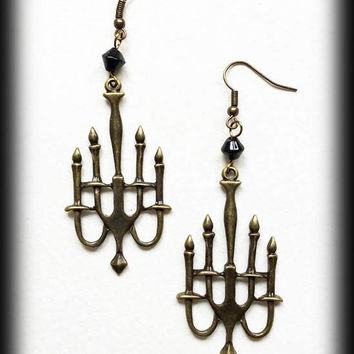 Chandelier Steampunk Earrings, Antique Bronze, Victorian Jewelry, Alternative Jewelry, Steampunk Gift, Handmade Jewellery, Vintage Style