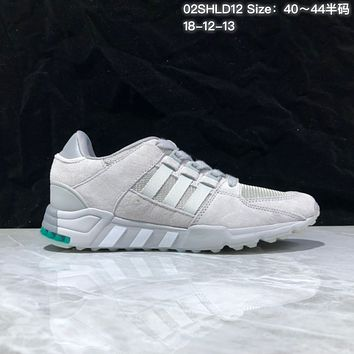 KUYOU A367 Adidas EQT RF Support 93 Suede Retro Running Shoes Gray Green