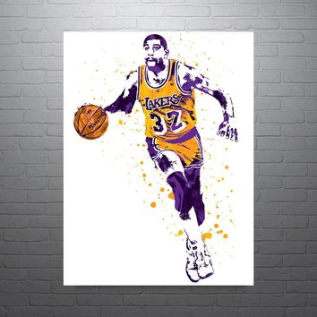 Magic Johnson Los Angeles Lakers Poster