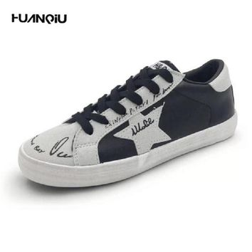 New Brand Women Shoes Fashion Leather Surface Casual Shoes Ladies Trainers Shoes For W