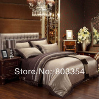 Cheap Luxury Bedding Sets Silk Quilt/Duvet Cover Sets Queen King Size Bedding Sets Many Luxury Bedding Patterns for Selection