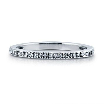 A Perfect Russian Lab Diamond Wedding Band