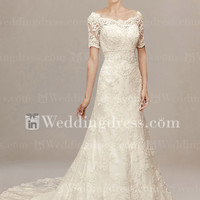 Vintage Lace Wedding Dress with sleeves DE226