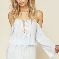 Ocean Breeze Cold Shoulder Romper