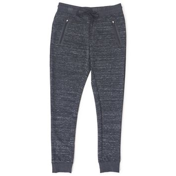 The Idle Man Technical Zip Joggers Grey