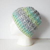 Lacy Skullcap Beanie Hat in Summer Medley, ready to ship.