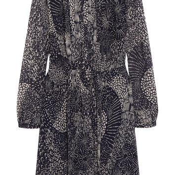 Burberry Brit - Printed silk-chiffon mini dress