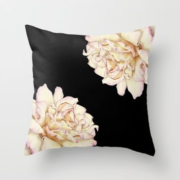 Roses - Lights the Dark Throw Pillow by drawingsbylam