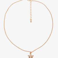 Lacquered Boat Wheel Necklace