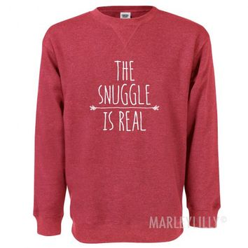 The Snuggle Is Real Comfort Colors Sweatshirt | Marleylilly
