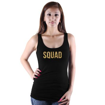 SQUAD Letter Print Women Tank Tops Bachelorette Party Cotton Summer Sexy Cropped Camisetas Mujer Free Shipping