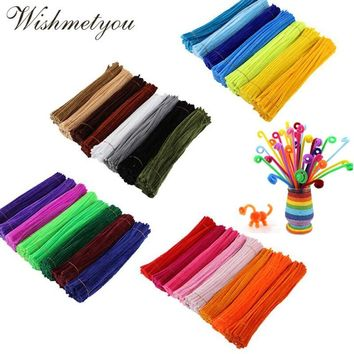 WISHMETYOU 50Pcs 30cm Colorful Chenille Stems Pipe Cleaners For Diy Kids Diy Plush Educational Toys Handmade Art Crafts Supplies