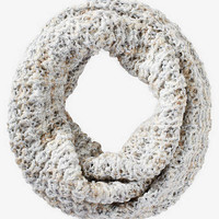 METALLIC KNIT SNOOD - WHITE from EXPRESS