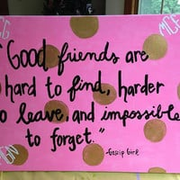 Best Friends Gossip Girl Custom Canvas