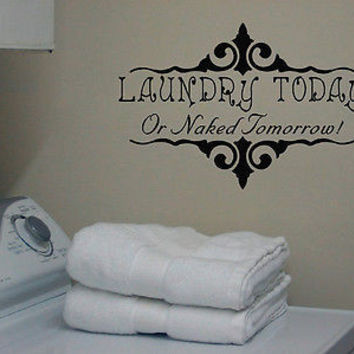 LAUNDRY ROOM QUOTE DECAL ART VINYL WALL STICKER LETTERING