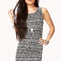 Easy Tribal Print Bodycon Dress