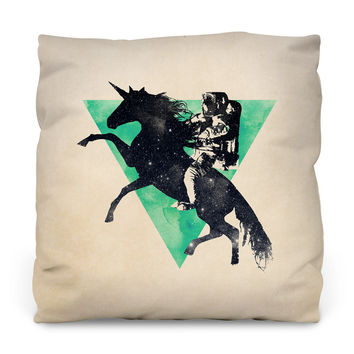 Ride the Universe Outdoor Throw Pillow