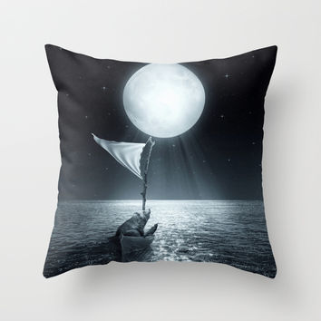 Set Adrift II Throw Pillow by Soaring Anchor Designs   Society6