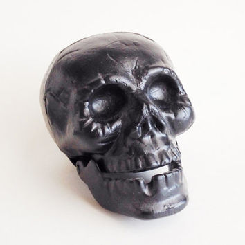 Halloween Decor Skull Figurine Chalkboard Centerpiece Gothic Creepy Spooky Black Party Decorations Human Skull Anatomy Medical Model