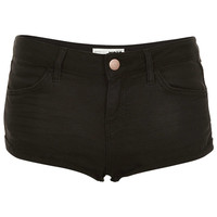 MOTO Black Denim Hotpants - Topshop USA