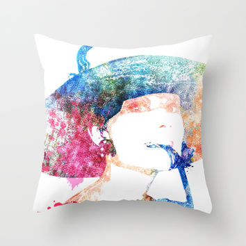 Breakfast at Tiffany's - Audrey Hepburn Throw Pillow by Heaven7