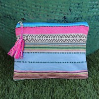 Pink and Blue Make Up Bag
