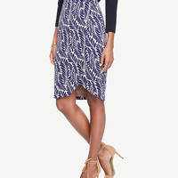 Leaf Petal Pencil Skirt | Ann Taylor