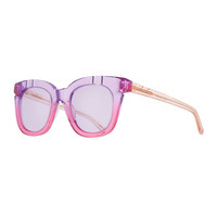 Pared Eyewear Pools & Palms Notched Square Sunglasses, Pink
