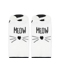 Meow Graphic Ankle Socks