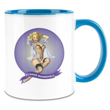 Pin Up Blonde Inside 11oz Ceramic Coffee Mug