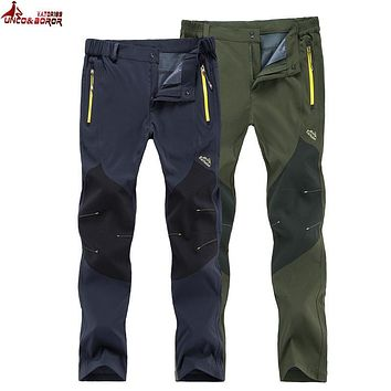 UNCO&BOROR New women/Men Pants Quick Dry UV Resistant Fast Drying Speed Dry Active Pant For Man Softshell waterproof Trousers