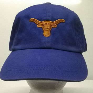 New Texas Longhorn Embroidered Cap Blue Cotton Baseball Hat