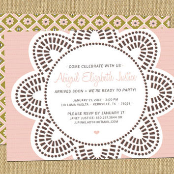 shop baby sprinkle invitation on wanelo, Baby shower invitations