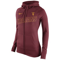 Women's Nike Cardinal USC Trojans Stadium Game Day KO Full Zip Therma-FIT Hoodie