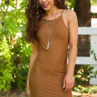 Georgia Suede Dress - Tan
