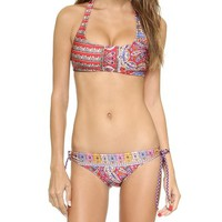 Tigerlily Pashmina T-Bar Crop Bikini Top