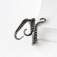 New Titanium steel Gothic Deep sea squid Octopus finger ring fashion jewelry opened Adjustable size