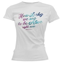 Hamilton How Lucky We Are Ladies T-Shirt - Apparel
