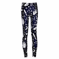 New Arrival 3628 Sexy Girl Women SpellBound witchcraft ouija Crafty 3D Prints Elastic Fitness Polyester Walking Leggings Pants