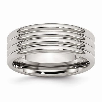 Men's Grooved Wedding Band