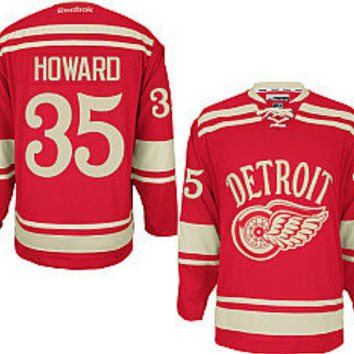 Reebok Detroit Red Wings 2014 NHL Winter Classic Jimmy Howard Premier Jersey